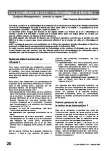 "l61p20-Les paradoxes de la loi ""Informatique & Libertés"" 1"