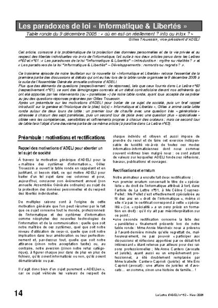 "l62p14-Les paradoxes de la loi ""informatique & libertés"""