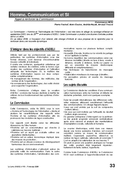 l63p33-Homme, Communication et SI