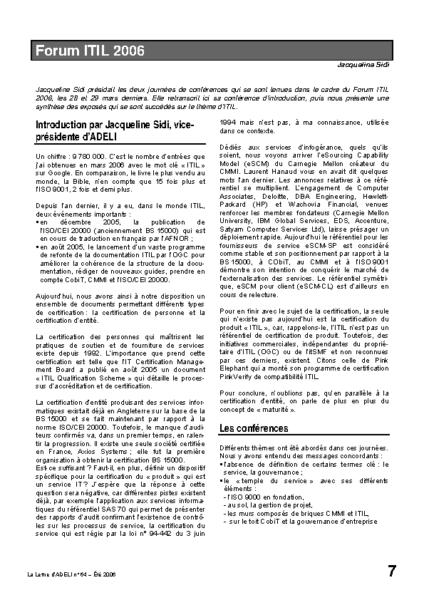 l64p07-Forum ITIL 2006