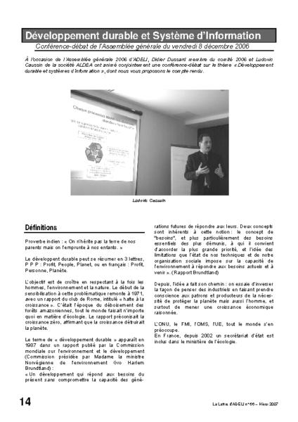 l66p14-Développement durable et SI