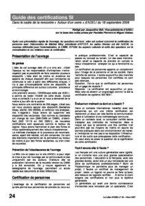 l66p24-Guide des certifications SI 7