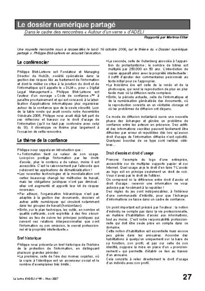 l66p27-Le dossier numérique partagé