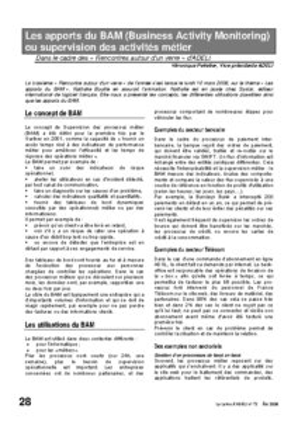 l72p28-Les apports du BAM (Business Activity Monitoring)