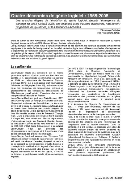 l76p08-Quatre décennies de génie logiciel : 1968-2008