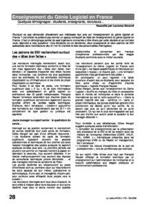 l76p28-Enseignement du génie logiciel en France 1