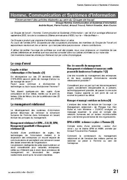 l84p21-Homme, communication et systèmes d'Information