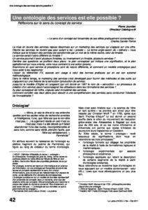 l84p42-Une ontologie des services est-elle possible? 1