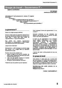"""l88p05-Groupe de travail """"Gouvernance IT"""" 4"""