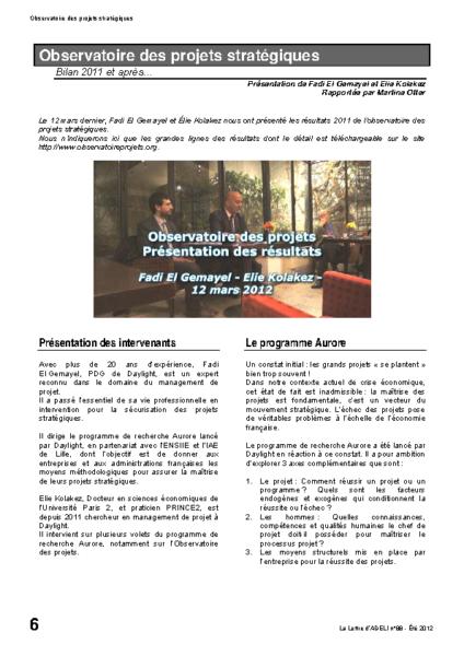 l88p06-Observatoire des projets stratégiques