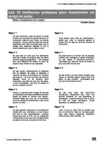 l89p55-Les 10 meilleures pratiques pour transformer un projet en enfer 2