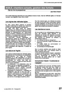 l91p27- AGILE, chantiers actuels, gestion des forfaits 2