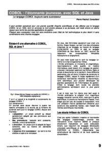 l92p09-COBOL ; l'éternelle jeunesse, avec SQL et Java 10