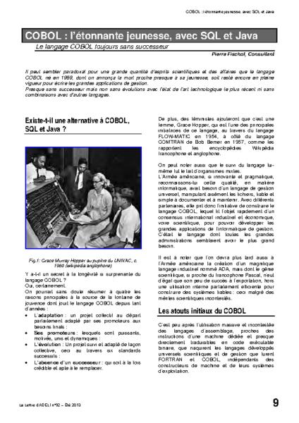 l92p09-COBOL ; l'éternelle jeunesse, avec SQL et Java