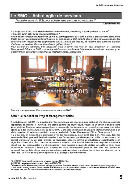 l94p05-Le SMO – Achat agile de services