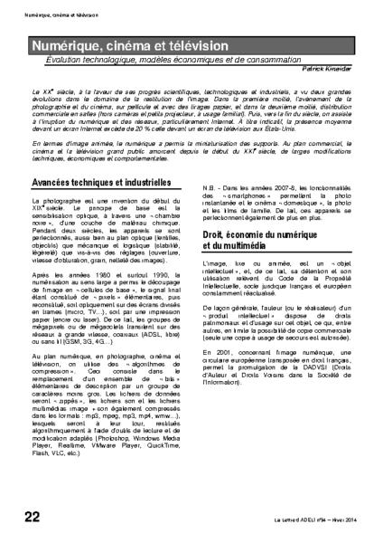 l94p22-Numérique, cinéma et télévision