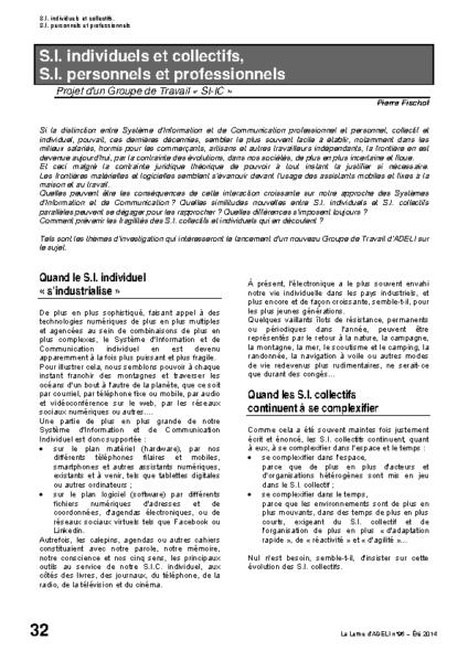 l96p32-S.I. individuels et collectifs, S.I. personnels et professionnels