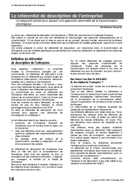 l99p14-le référentiel de description de l'entreprise