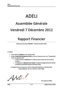 ADELI- Rapport financier 2012 4