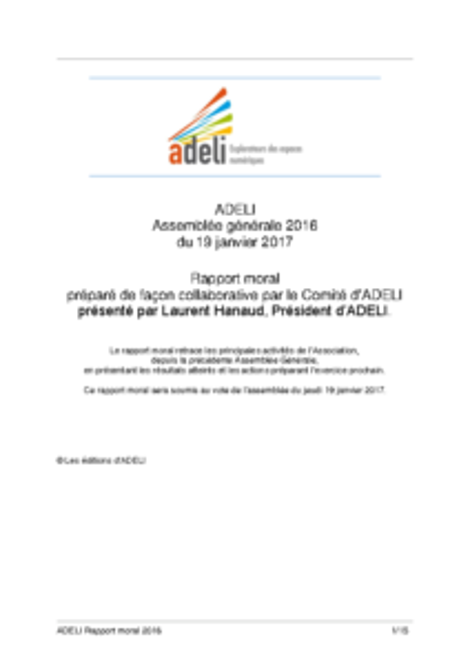 ADELI- Rapport Moral 2016