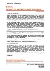 L105p02-éditorial - Internet des objets et un enjeu sécuritaire 1