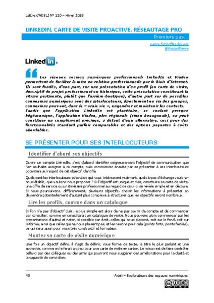 L110p40-Linkedin, carte de visite proactive, réseautage pro
