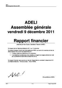 Rapport financier 2011 5