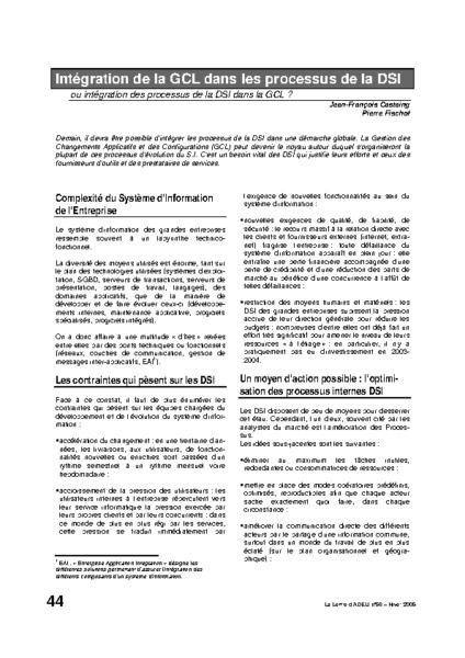 l58p44-Intégration de la GCL dans les processus de la DSI