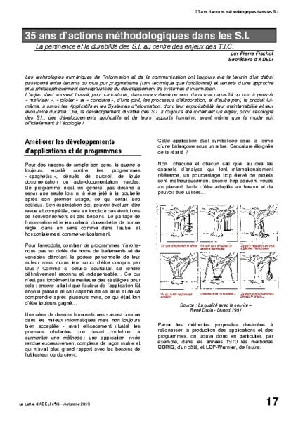 l93p17-35 ans d'actions méthodologiques dans les S.I.