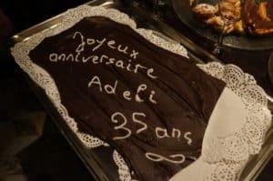 Le gâteau anniversaire des 35 ans d'ADELI