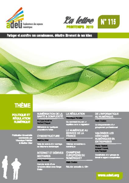 L115 – Printemps 2019 – Politique et régulation numérique