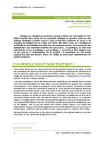 L115p02- Éditorial -Politique et régulation numérique 5