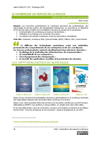 L115p30 – Le numérique au service de la France