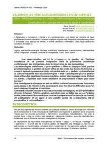 L115p48 - Valoriser les héritages numériques en entreprises 1