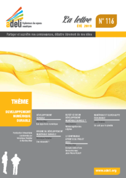 L116 – Été 2019 – Développement numérique durable
