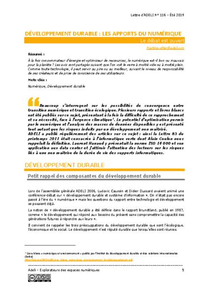 L116p05 – Développement durable : les apports du numérique