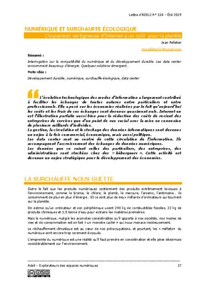 L116p17 – Numérique et surchauffe écologique