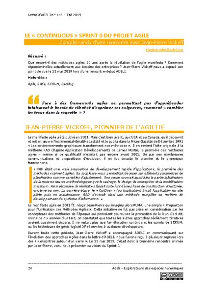 """L116p24 – Le """"continuous"""" sprint 0 du projet agile"""