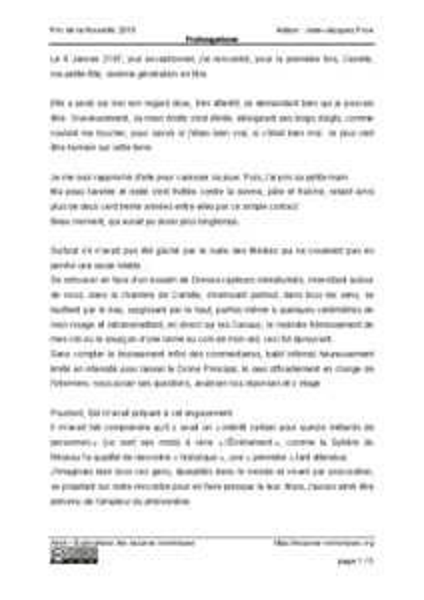 Prolongations – Jean-Jacques Pion