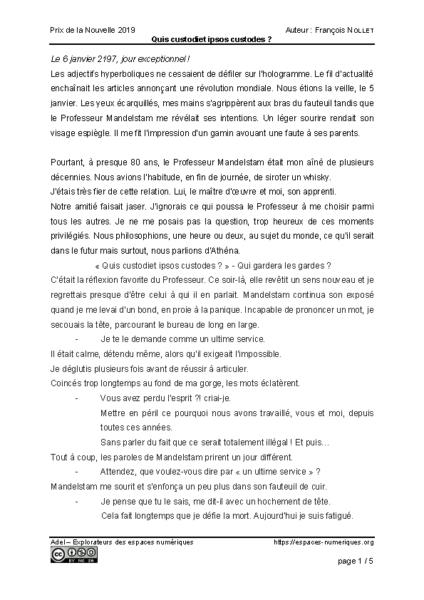 Quis custodiet ipsos custodes – François Nollet