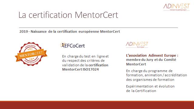 Le dispositif MentorCert 2