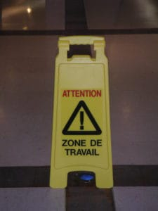 Attention zone de travail