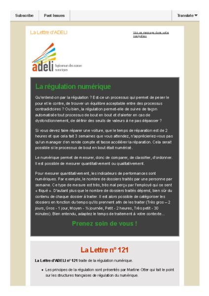 Lettre d'ADELI n°121 – Régulation numérique