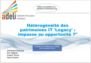 Patrimoines numériques «Legacy» : les défis de l'hétérogénéité 1